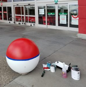 Image of ball in front of Target